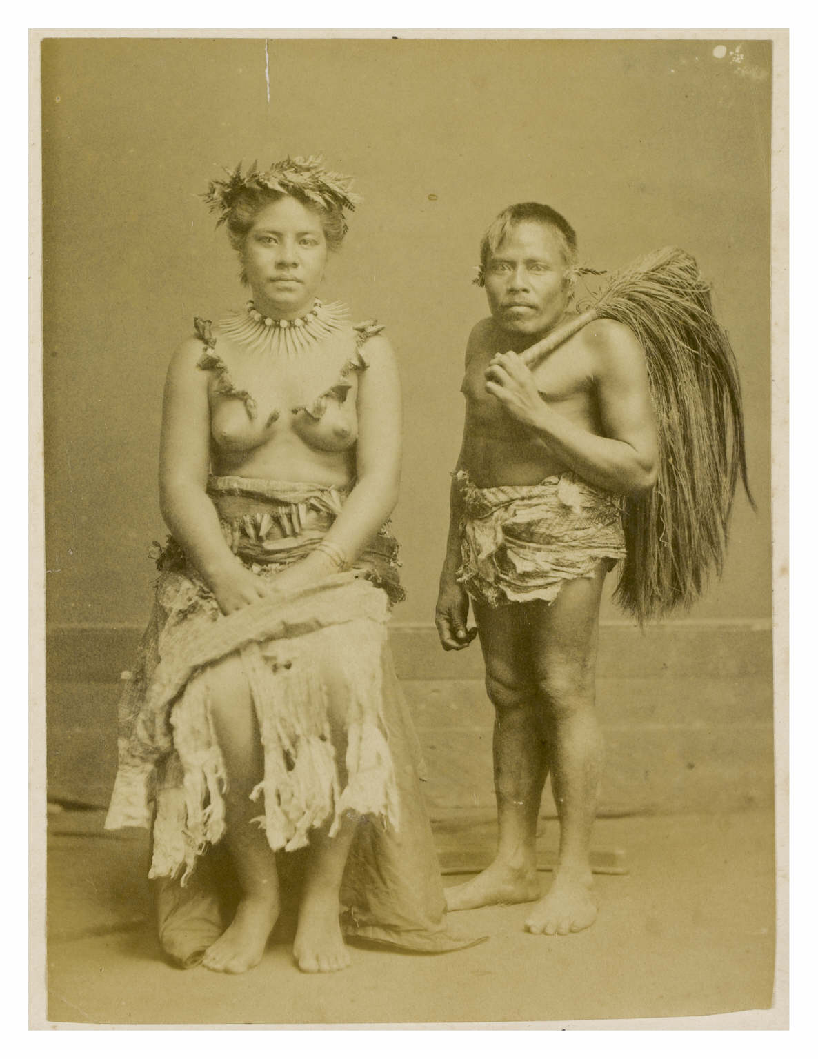 Samoan Noble with Attendant