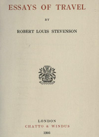 essays of travel robert louis stevenson essays of travel 1905